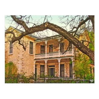 William Bierschwale Home, Fredericksburg, TX Postcard