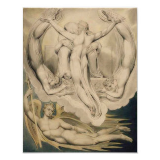 "William Blake 1808 ""Christ as the Redeemer of Man"" Photo Art"