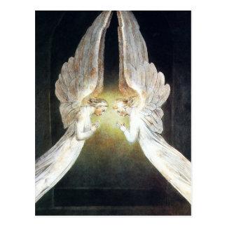 William Blake Angels Postcard