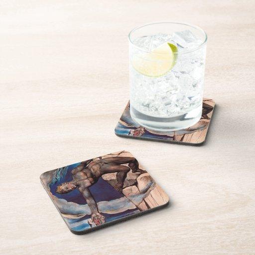 William Blake- Antaeus setting down Dante & Virgil Drink Coaster