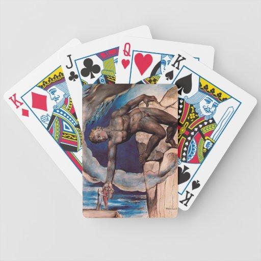 William Blake- Antaeus setting down Dante & Virgil Bicycle Poker Cards