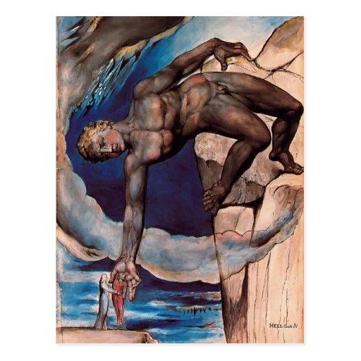 William Blake- Antaeus setting down Dante & Virgil Post Cards