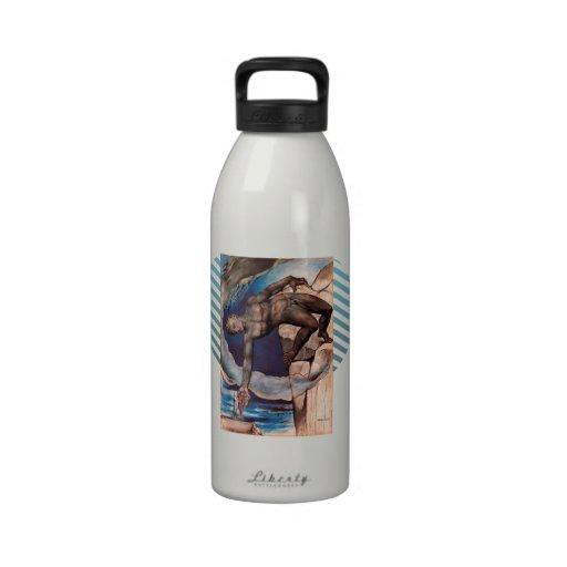 William Blake- Antaeus setting down Dante & Virgil Reusable Water Bottle