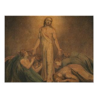 William Blake - Christ Appearing to the Apostles Photo Print