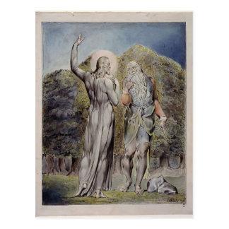 William Blake- Christ Tempted by Satan Postcard