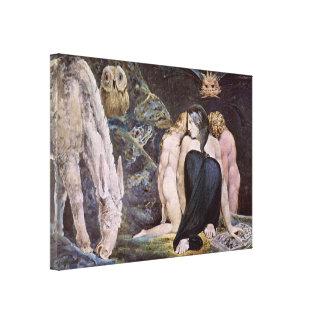 William Blake - Hecate; Night of Enitharmon's Joy Canvas Print