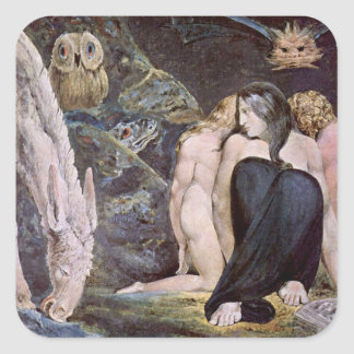 William Blake - Hecate - Night of Enitharmon's Joy Square Sticker