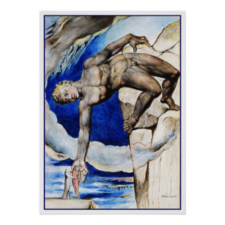 William Blake Illustration: Dante's Divine Comedy Poster