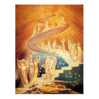 William Blake Jacob's Ladder Postcard