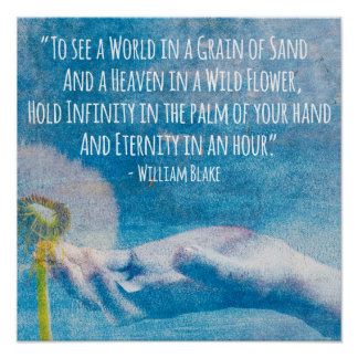 William Blake Poem Poster