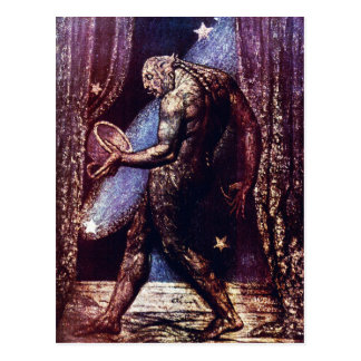 William Blake Postcard:  Ghost of A Flea Postcard