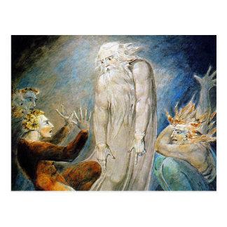 William Blake Postcard:  Job and His Family Postcard