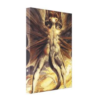 William Blake Red Dragon Canvas Print