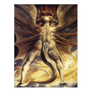 William Blake Red Dragon Postcard