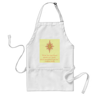 William Blake Sun and Moon Confidence Quote Standard Apron