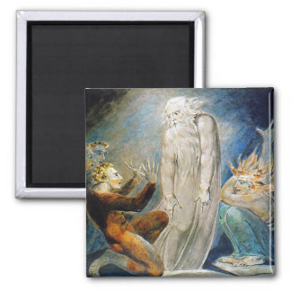 William Blake: The Witch of Endor Square Magnet