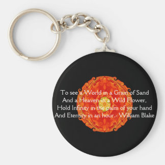 """William Blake """"World in a Grain of Sand"""" quote Basic Round Button Key Ring"""