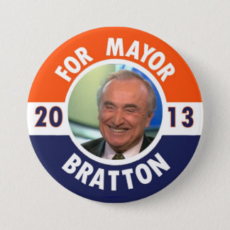 William Bratton for NYC Mayor in 2013 7.5 Cm Round Badge