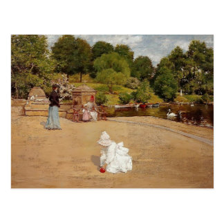 William Chase- A Bit of the Terrace Postcard