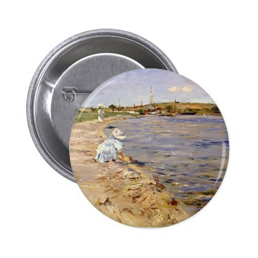 William Chase- Beach Scene- Morning at Canoe Place Pinback Buttons