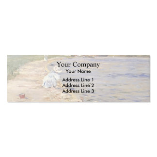 William Chase- Beach Scene- Morning at Canoe Place Business Cards