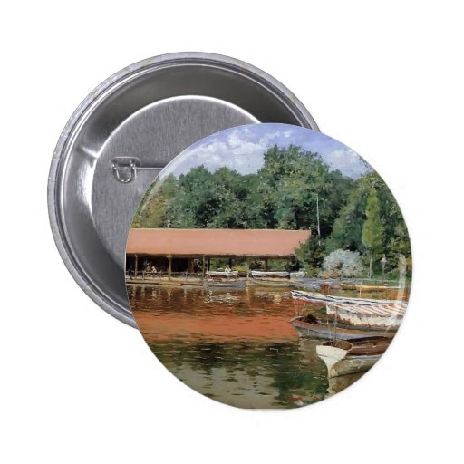 William Chase- Boat House, Prospect Park Pinback Button