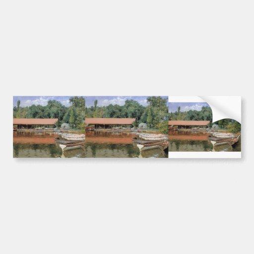 William Chase- Boat House, Prospect Park Bumper Sticker