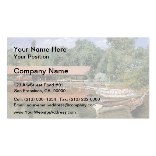 William Chase- Boat House, Prospect Park Business Cards