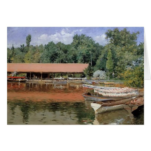 William Chase- Boat House, Prospect Park Greeting Cards