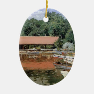 William Chase- Boat House, Prospect Park Christmas Tree Ornaments