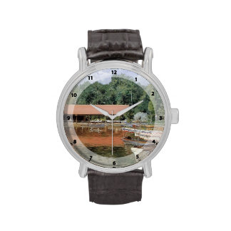 William Chase- Boat House, Prospect Park Wrist Watch