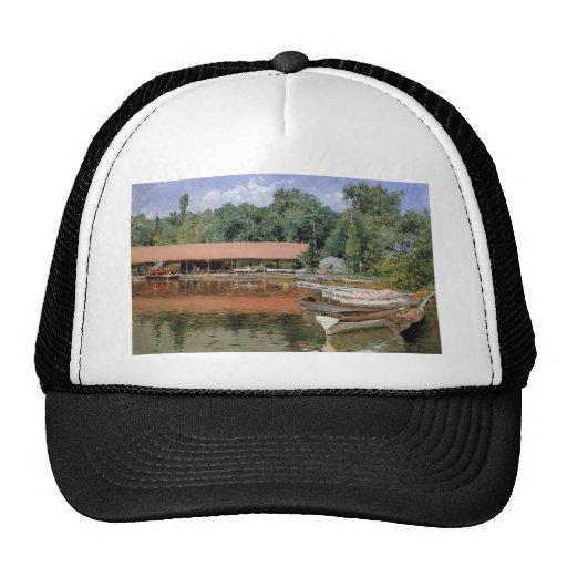 William Chase- Boat House, Prospect Park Mesh Hat