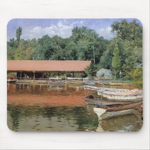 William Chase- Boat House, Prospect Park Mousepad