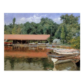 William Chase- Boat House Prospect Park Post Card