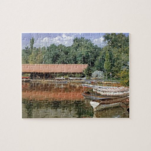 William Chase- Boat House, Prospect Park Jigsaw Puzzle