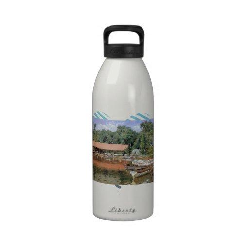 William Chase- Boat House, Prospect Park Reusable Water Bottle