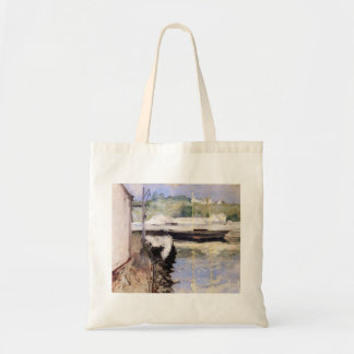 William Chase- Fish Sheds and Schooner, Gloucester Canvas Bags