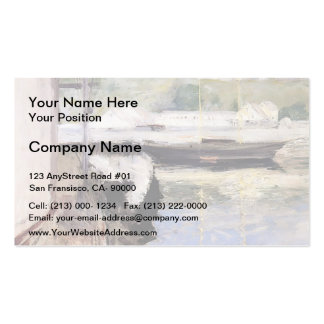 William Chase- Fish Sheds and Schooner, Gloucester Business Card