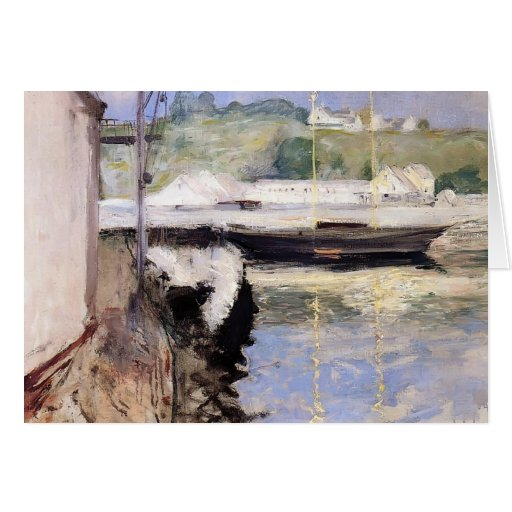 William Chase- Fish Sheds and Schooner, Gloucester Greeting Cards