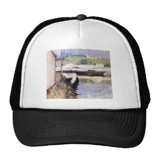 William Chase- Fish Sheds and Schooner, Gloucester Mesh Hat