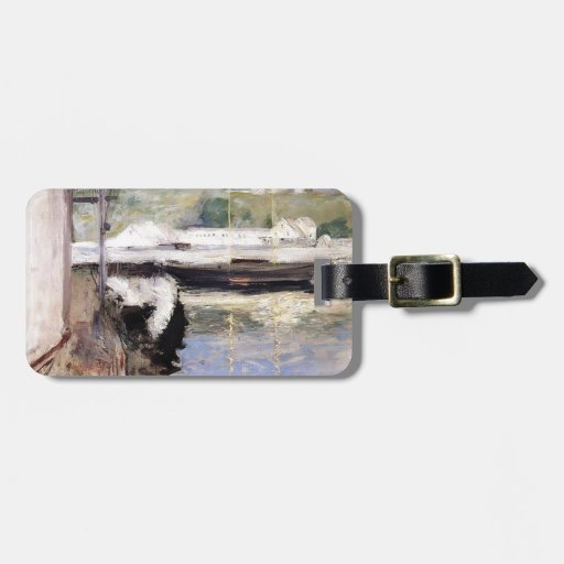 William Chase- Fish Sheds and Schooner, Gloucester Luggage Tags