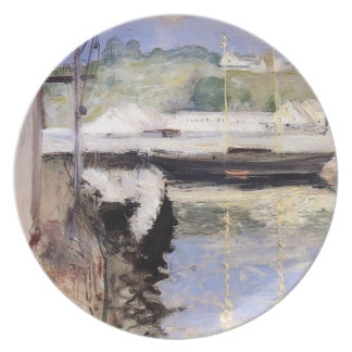 William Chase- Fish Sheds and Schooner, Gloucester Dinner Plates