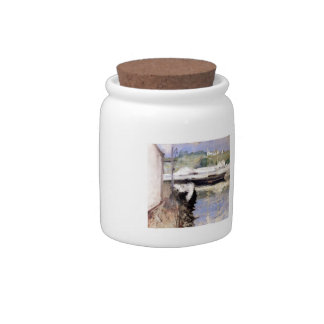 William Chase- Fish Sheds and Schooner, Gloucester Ceramic Lolly Jar