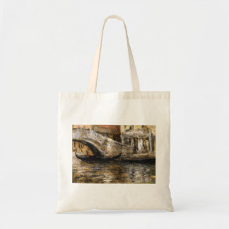 William Chase- Gondolas along Venetian Canal Canvas Bag