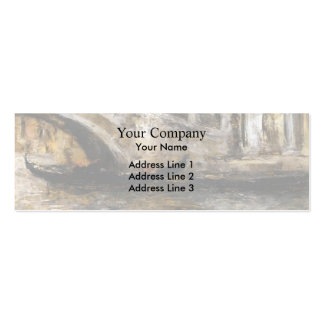 William Chase- Gondolas along Venetian Canal Business Card