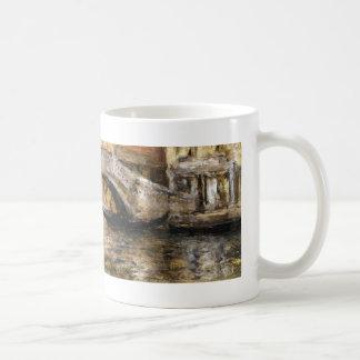 William Chase- Gondolas along Venetian Canal Basic White Mug