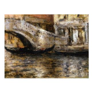 William Chase- Gondolas along Venetian Canal Postcard
