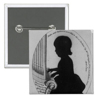 William Crotch Playing the Organ 15 Cm Square Badge