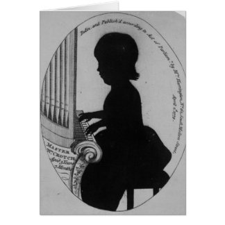 William Crotch Playing the Organ Card
