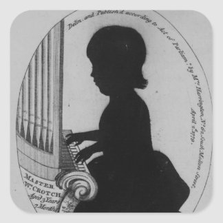 William Crotch Playing the Organ Square Sticker